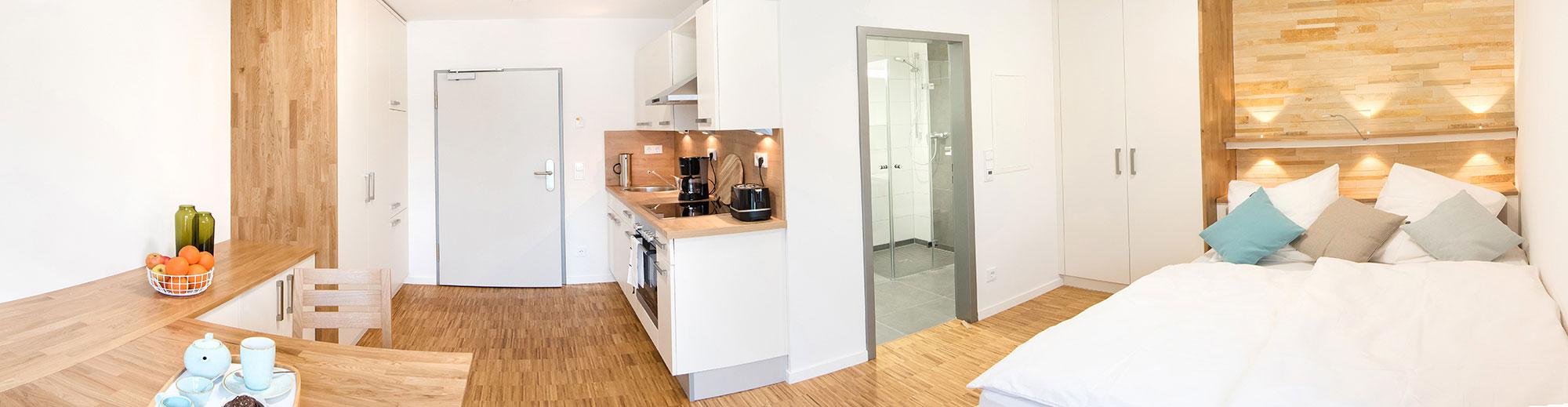 Innenansicht 1-Zimmer-Apartment